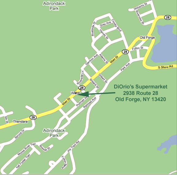 Location & Directions: Diorio's Supermarket, Old Forge